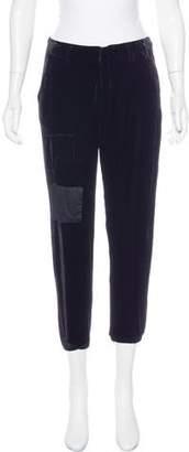 Greg Lauren Mid-Rise Velvet Pants