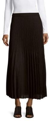 Max Studio Solid Pleated Maxi Skirt