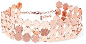 Luv Aj Triple Disco Fever Rose Gold-Plated Choker