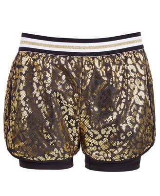 Ideology Big Girls Leopard-Print Layered-Look Shorts