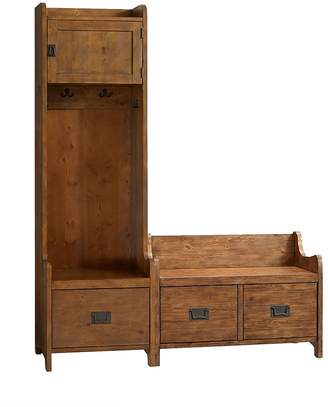 Pottery Barn Wade 2-Piece Tower & Bench Entryway Set, Weathered Pine
