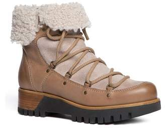 Manas Design Genuine Shearling Cuff Boot