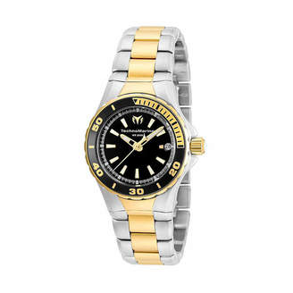Technomarine TECHNO MARINE Techno Marine Womens Two Tone Bracelet Watch-Tm-215061