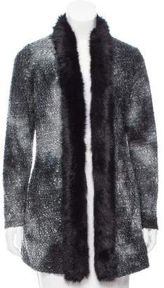 Alberto Makali Faux Fur-Trimmed Textured w/ Tags