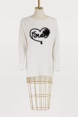 Fendi Silk and cashmere crewneck sweater