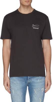 Denham Jeans 'Aloha' slogan graphic print back T-shirt