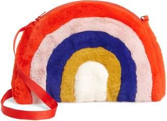 Boden Mini Rainbow Faux Fur Crossbody Bag