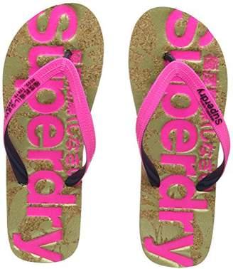 5b307d2dddcb55 Superdry Women s Printed Cork Flip Flops ...
