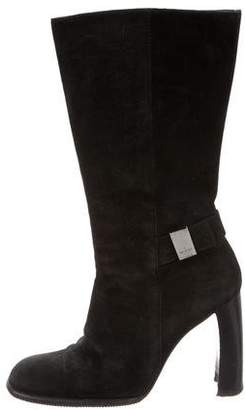 Gucci Mid-Calf Square-Toe Boots