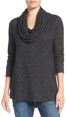 Petite Women's Gibson Convertible Neckline Cozy Fleece Tunic $54 thestylecure.com