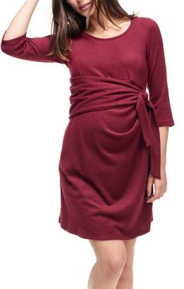Maternal America Faux Wrap Maternity Dress
