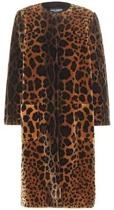 Dolce & Gabbana Printed velvet silk-blend coat
