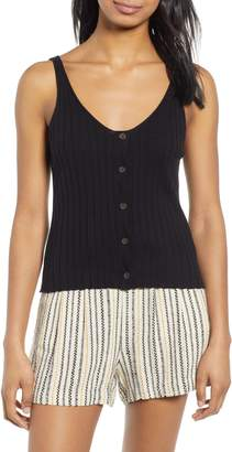 BP Button Front Sweater Tank Top