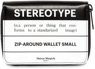 Maison Margiela Stereotype Leather Zip Around Wallet