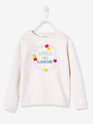 Vertbaudet Sweatshirt with Message, for Girls