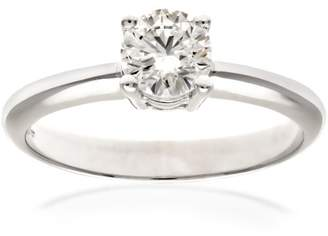 N. Naava Women's Platinum GIA Certified Diamond Solitaire Engagement Ring, Size P