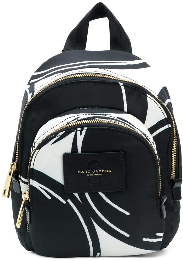 Marc Jacobs mini Double Zip printed backpack