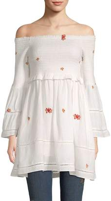 Free People Women's Counting Daisies Embroidered Mini
