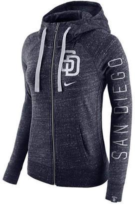 Nike Women's San Diego Padres Gym Vintage Full Zip Hooded Sweatshirt