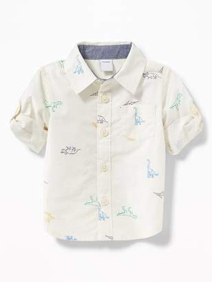 Old Navy Dinosaur-Print Roll-Up Shirt for Baby