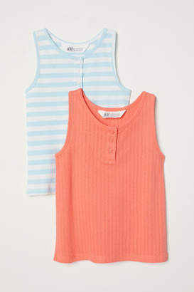 H&M 2-pack Tank Tops - Orange