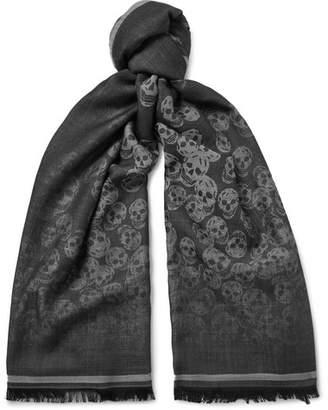 Alexander McQueen Wool And Silk-Blend Jacquard Scarf