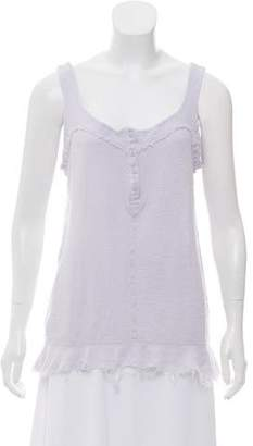 Christina Lehr Raggy Sleeveless Top w/ Tags