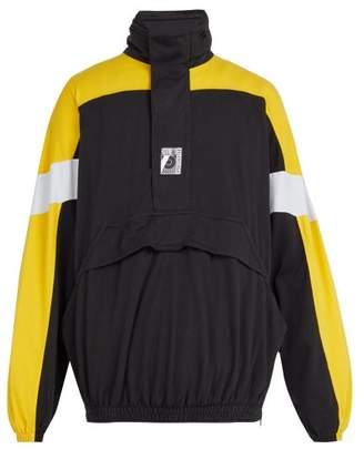 Balenciaga Panelled Cotton Jacket - Mens - Black
