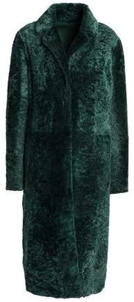 Reversible Shearling Suede Coat