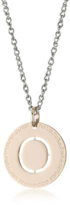 Rebecca Word Gold Over Bronze Letter O Necklace