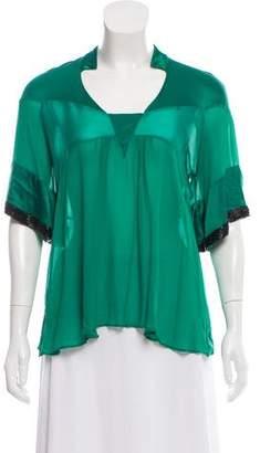 Etro Short Sleeve Silk Top