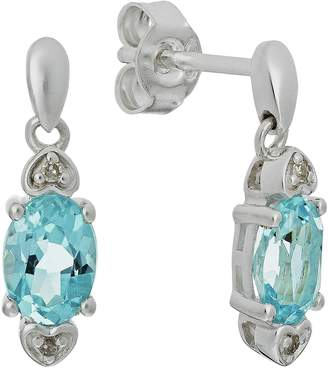 c93e95a63 Revere Sterling Silver Topaz and Diamond Accent Earrings