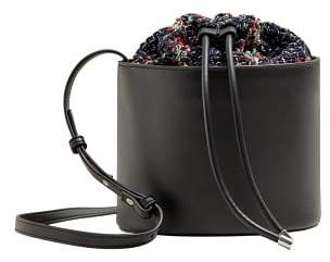 Violeta BY MANGO Tweed bucket bag