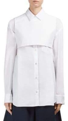 Roberto Cavalli Cotton Button-Front Shirt