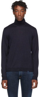 Golden Goose Navy Wool Tomio Turtleneck