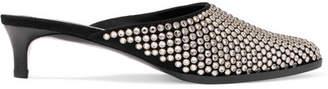 3.1 Phillip Lim Agatha Crystal-embellished Suede Mules - Black