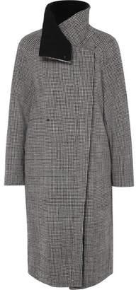 Akris Terrance Reversible Houndstooth Wool Coat - Black