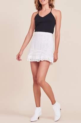 BB Dakota Lucine Ruffle-Bottom Skirt