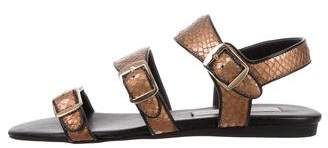 Stella McCartney Metallic Multistrap Sandals