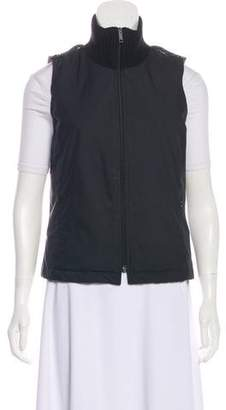 Burberry Stand Collar Knit-Trimmed Vest