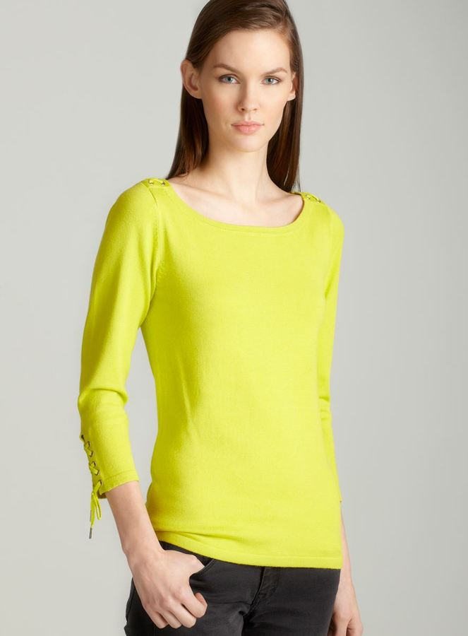 Premise Pullover iwth lace in lime