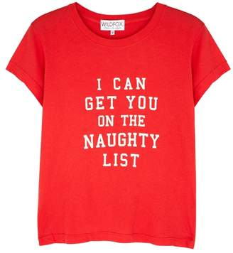 Wildfox Couture Christmas Naughty List Cotton T