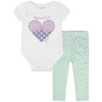 GUESS Girls Mermaid Bodysuit & Leggings Set
