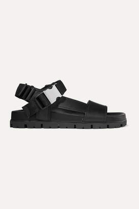 Prada Buckle-detailed Leather Sandals - Black