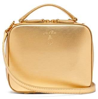 Mark Cross Laura Mini Leather Cross Body Bag - Womens - Gold