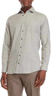 Luciano Barbera Stitch Pattern Sport Shirt