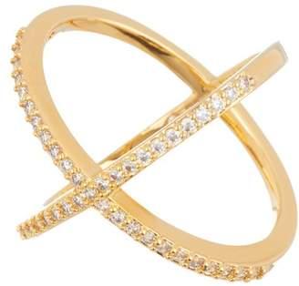 BaubleBar Stone Crisscross Mason Ring