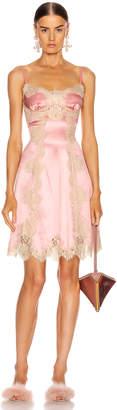 Dolce & Gabbana Satin Sleeveless Mini Dress in Pink   FWRD