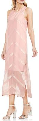 Vince Camuto Sheer Chevron Maxi Dress