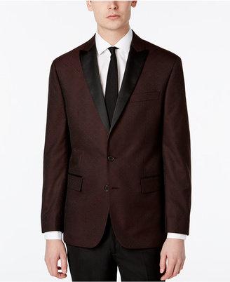 Ryan Seacrest DistinctionTM Men's Slim-Fit Burgundy Brocade Dinner Jacket, Only at Macy's $295 thestylecure.com